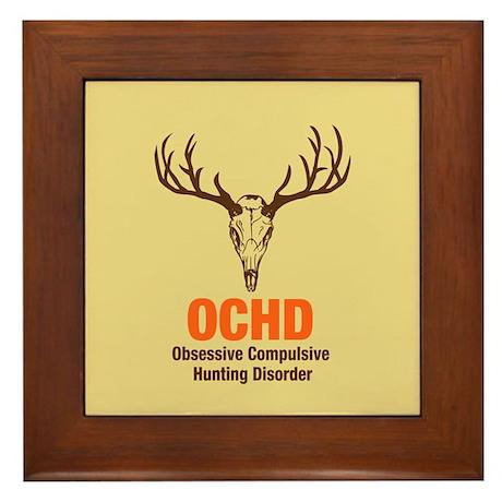 OCHD Obsessive Hunting Framed Tile