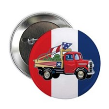 "4th of July Vintage Truck 2.25"" Button"