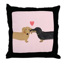 Dachshund Smooch Throw Pillow