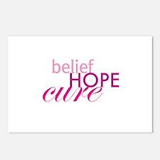 Belief, Hope, Cure Postcards (Package of 8)