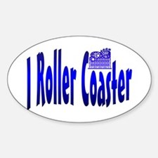 I Roller Coaster Oval Decal