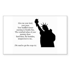 Statue of Liberty - Immigrati Rectangle Decal