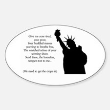 Statue of Liberty - Immigrati Oval Decal