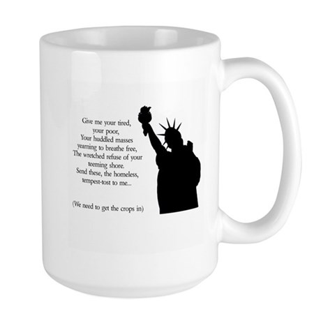 Statue of Liberty - Immigrati Large Mug
