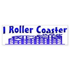 I Roller Coaster Bumper Bumper Sticker