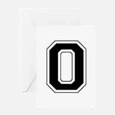 Varsity Font Number 0 Black Greeting Card