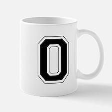 Varsity Font Number 0 Black Mug