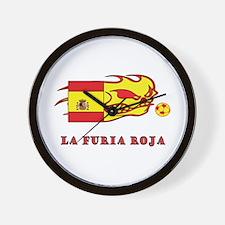 """Whooligan Spain """"La Furia Roja"""" Wall Clock"""