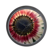 Red Sunflower Painting Wall Clock