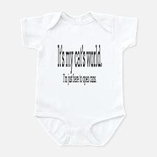it's my cat's world... Infant Bodysuit