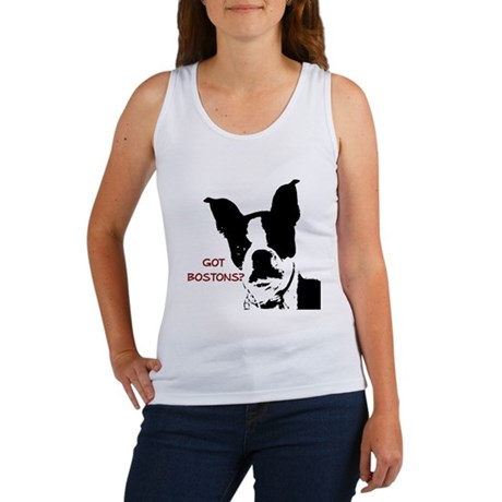 Got Bostons? Red Graphic Women's Tank Top