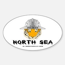 Oilman North Sea Oval Decal