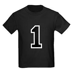 Varsity Font Number 1 Black T