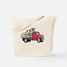 4th of July Vintage Truck Tote Bag
