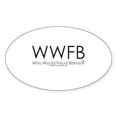 Who Would He Blame Oval Sticker (50 pk)
