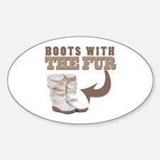 Boots With The Fur Oval Decal