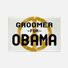 Groomer for Obama Rectangle Magnet