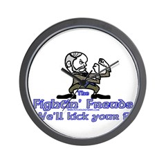 Mascot Kick Your Id Wall Clock