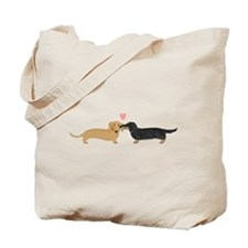 Dachshund Smooch Tote Bag