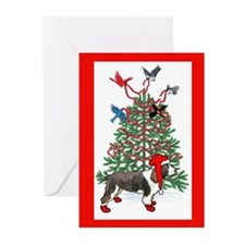 Springer spaniel christmas Greeting Cards (Pk of 2
