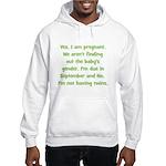 Due In September Not Twins Hooded Sweatshirt