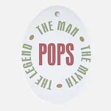 Pops Man Myth Legend Oval Ornament