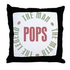 Pops Man Myth Legend Throw Pillow