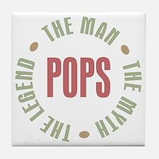 Pops Man Myth Legend Tile Coaster