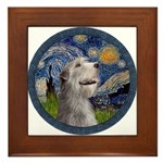 Starry Irish Wolfhound Framed Tile
