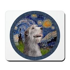 Starry Irish Wolfhound Mousepad