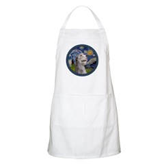 Starry Irish Wolfhound Apron