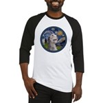 Starry Irish Wolfhound Baseball Jersey