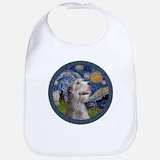 Starry Irish Wolfhound Bib