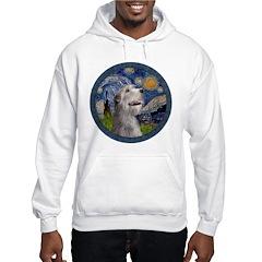 Starry Irish Wolfhound Hoodie