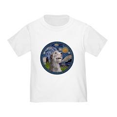 Starry Irish Wolfhound Toddler T-Shirt