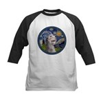 Starry Irish Wolfhound Kids Baseball Jersey