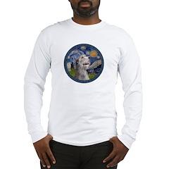 Starry Irish Wolfhound Long Sleeve T-Shirt