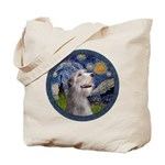 Starry Irish Wolfhound Tote Bag
