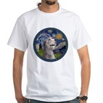 Starry Irish Wolfhound White T-Shirt