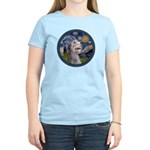 Starry Irish Wolfhound Women's Light T-Shirt
