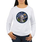 Starry Irish Wolfhound Women's Long Sleeve T-Shirt