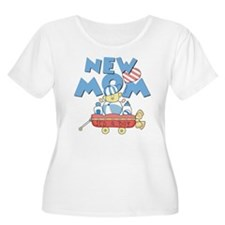 Red Wagon New Mom T-Shirt