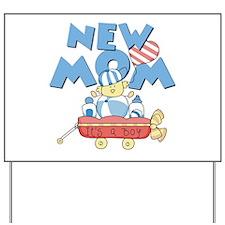 Red Wagon New Mom Yard Sign