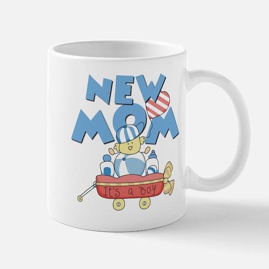 Red Wagon New Mom Mug