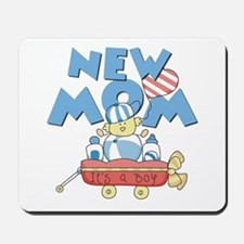 Red Wagon New Mom Mousepad