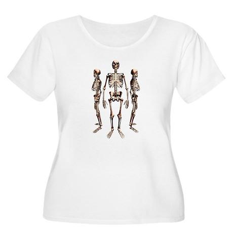 Skeletons Women's Plus Size Scoop Neck T-Shirt
