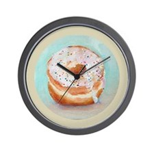Wall Clock - Frosted Donut with Sprinkles