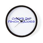 Chicks Dig Psych Majors Wall Clock