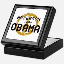 HR Person for Obama Keepsake Box