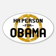 HR Person for Obama Oval Decal